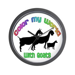 Color my World With Goats Wall Clock