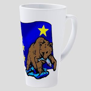 Alaskan Bear Flag 17 Oz Latte Mug