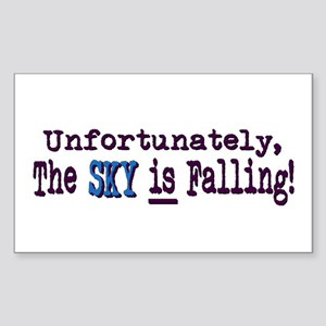 The Sky IS Falling Rectangle Sticker