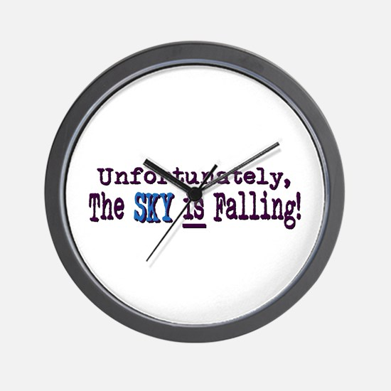 The Sky IS Falling Wall Clock
