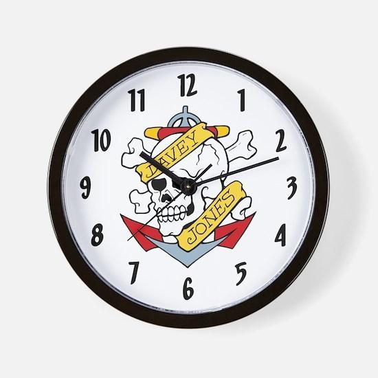 Davey Jones Tattoo Wall Clock