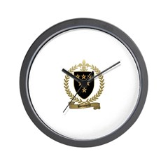BONNEVILLE Family Crest Wall Clock