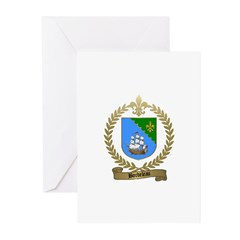 BORDELEAU Family Crest Greeting Cards (Package of