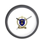 BOSSE Family Crest Wall Clock