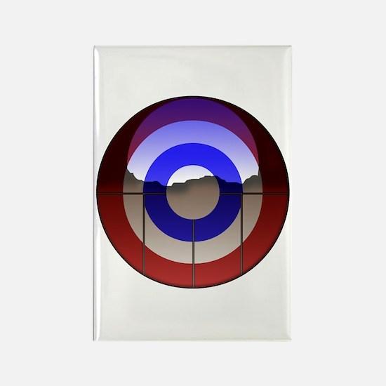 Captain Curl! Rectangle Magnet