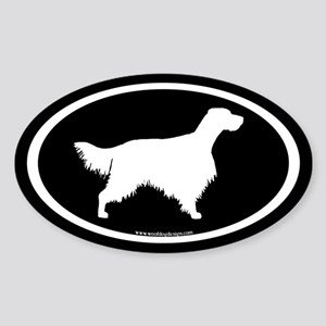 English Setter Oval (wh/blk) Oval Sticker