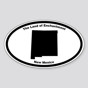 New Mexico Nickname Oval Sticker