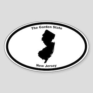New Jersey Nickname Oval Sticker