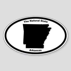 Arkansas Nickname Oval Sticker