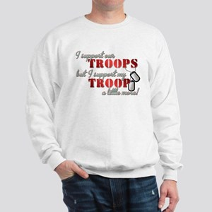 I Support our Troops but I su Sweatshirt