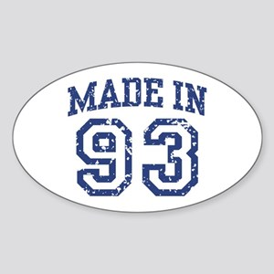 Made in 93 Oval Sticker