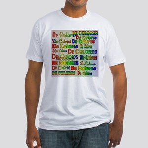 De Colores Fonts Fitted T-Shirt