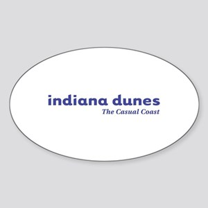 Indiana Dunes Oval Sticker
