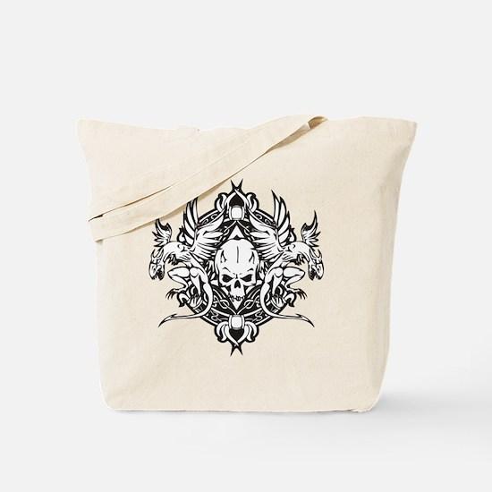 Dragon Biker Emblem Tote Bag