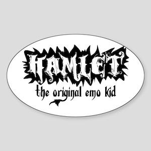 Hamlet: Original Emo Oval Sticker