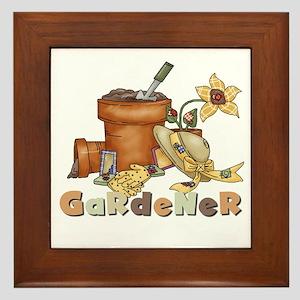 Gardener Framed Tile