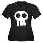 Skull Women's Plus Size V-Neck Dark T-Shirt