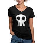 Skull Women's V-Neck Dark T-Shirt