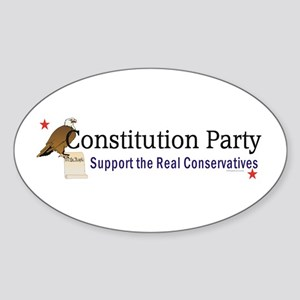 Constitution Party Sticker (Oval)