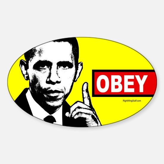 Anti-Obama OBEY Oval Decal