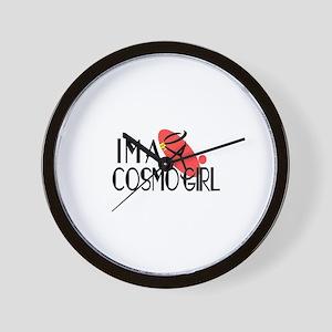 I'm a Cosmopolitan Girl (Cosmo) Wall Clock