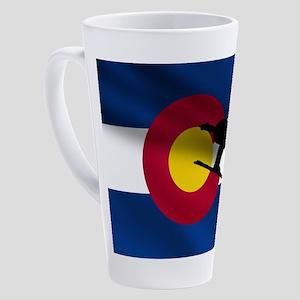 Colorado Skiing Flag 17 Oz Latte Mug