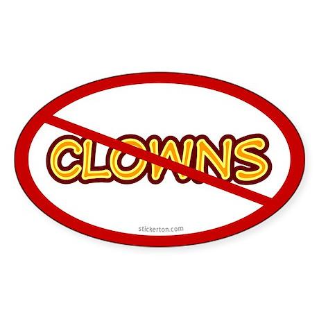 Anti Clown Oval Sticker