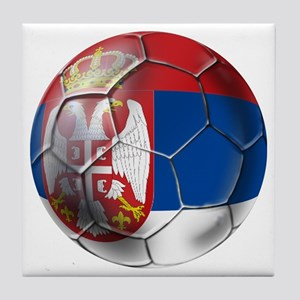 Serbian Football Tile Coaster