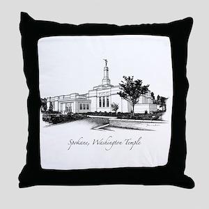 Spokane, Washington Temple 2 Throw Pillow