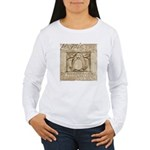 Vitruvian Penguin Women's Long Sleeve T-Shirt