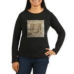Vitruvian Penguin Women's Long Sleeve Dark T-Shirt