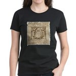 Vitruvian Penguin Women's Dark T-Shirt
