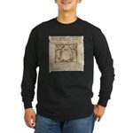 Vitruvian Penguin Long Sleeve Dark T-Shirt