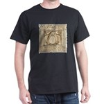 Vitruvian Penguin Dark T-Shirt