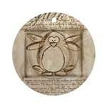 Vitruvian Penguin Ornament (Round)