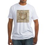 Vitruvian Penguin Fitted T-Shirt