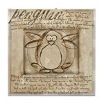 Vitruvian Penguin Tile Coaster