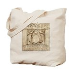 Vitruvian Penguin Tote Bag