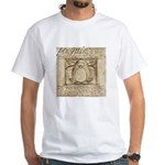 Vitruvian Penguin White T-Shirt