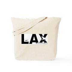 Los Angeles Airport LAX Black Des. Tote Bag