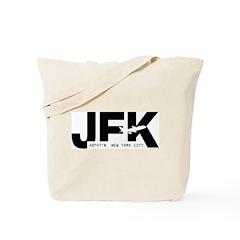 New York City Airport JFK Black Des. Tote Bag