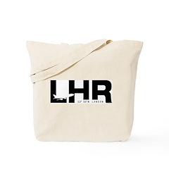 London Airport LHR England Black Des. Tote Bag
