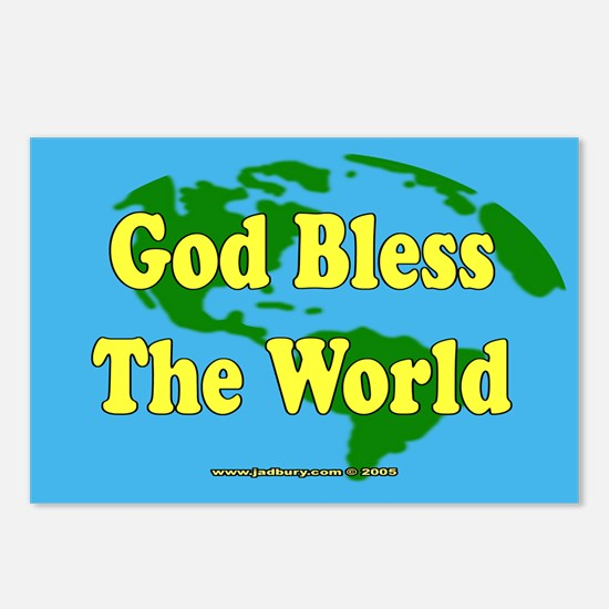 God Bless The World Postcards (Package of 8)