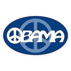 Obama Peace Oval Sticker (10 pk)
