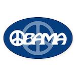 Obama Peace Oval Sticker