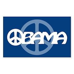 Obama Peace Rectangle Decal