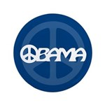 "Obama Peace 3.5"" Button"