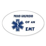 EMT Girlfriend Oval Sticker (10 pk)
