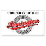 Property of RFC Rectangle Sticker