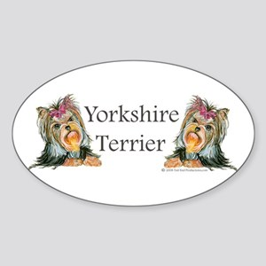 Yorkie Gifts for Yorkshire Terriers Oval Sticker